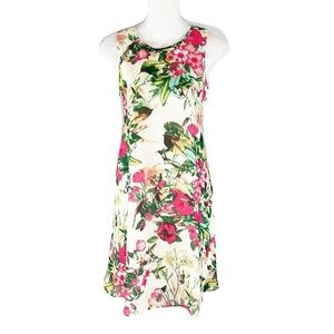 Taylor cream floral swing dress
